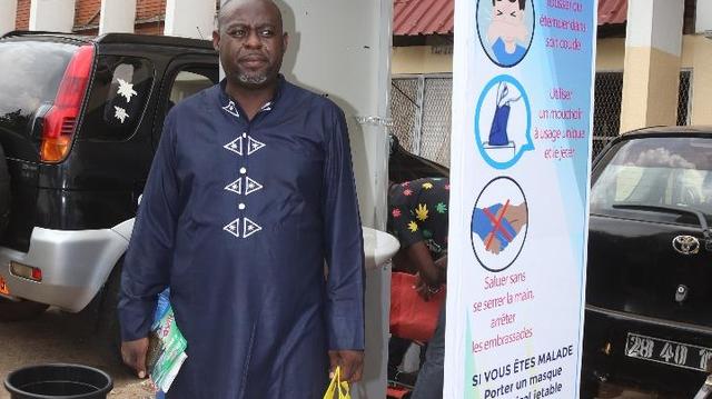 Serge Armel Njidjou, l'inventeur du portique désinfectant, nous dit tout