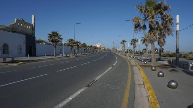 Depuis le début de l'état d'urgence, les rues de Casablanca sont dépeuplées