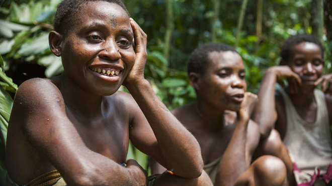 Des pygmées dans la réserve protégée de Dzanga Sangha, en 2008 (photo d'illustration)