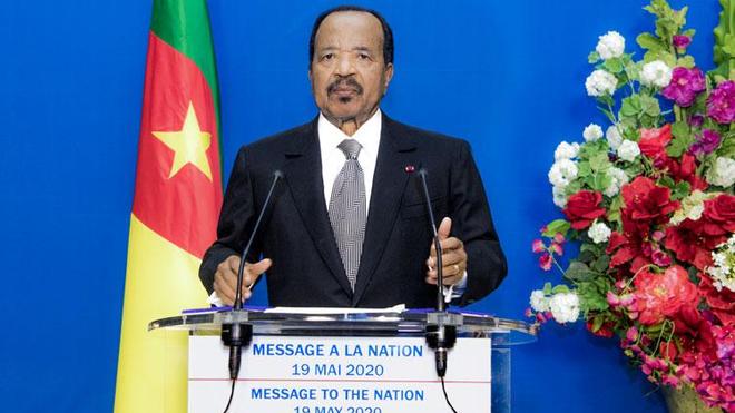 Le président Paul Biya lors d'un discours à la nation, le 19 mai dernier