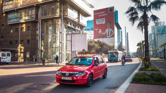 A Casablanca, le petit taxi est un moyen de transport urbain accessible et largement utilisé (photo d'illustration)