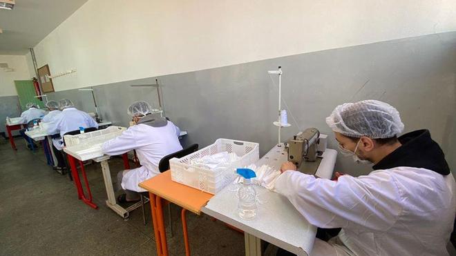 Au Maroc, 20.000 masques de protection sont fabriqués chaque jour par des prisonniers (photo d'illustration)