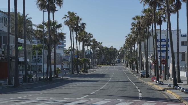 Les principales artères de Casablanca sont dépeuplées en cette période de confinement