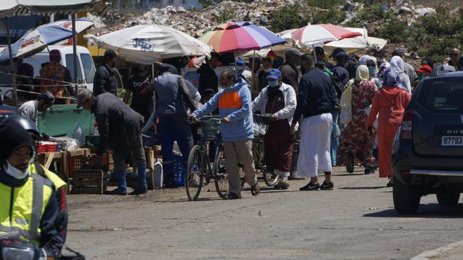 À Casablanca, la distanciation sociale reste difficile à faire respecter