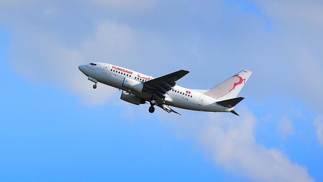 Un avion de Tunisair devrait rapatrier certains étudiants bloqués en France (photo d'illustration)
