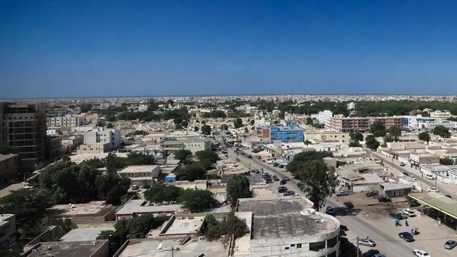 Vue aérienne de Nouakchott, la capitale mauritanienne