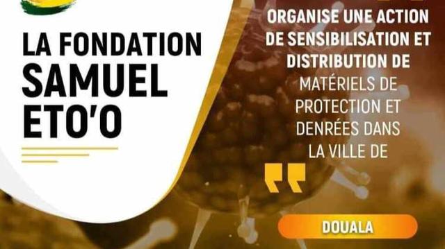 Cameroun : La Fondation Samuel Eto'oengage la bataille contre le coronavirus