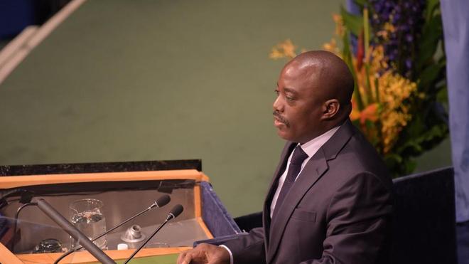 L'ancien chef d'Etat, Joseph Kabila, au Siège de l'Organisation desNations Unies, à New York (photo d'illustration)