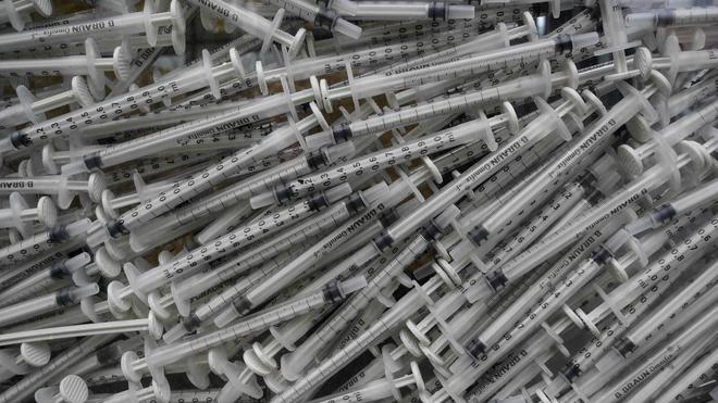 Au Maroc, l'ALCS encourage les usagers de drogues à ne pas réutiliser une seringue (Illustration)