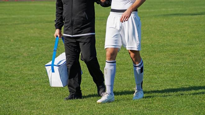 La pubalgie est blessure très douloureuse qui handicape énormément de footballeurs (photo d'illustration)