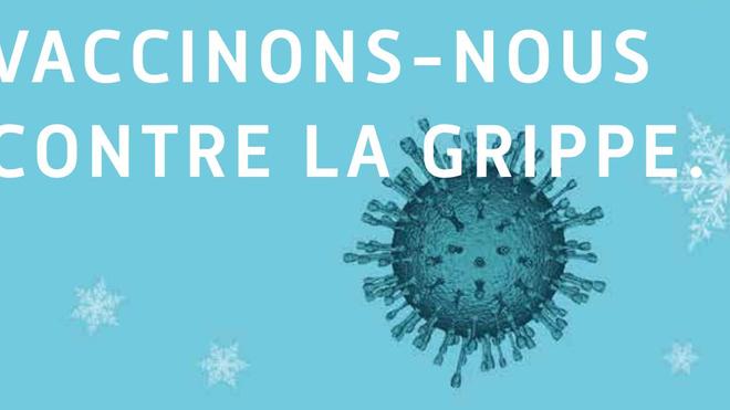 Une campagne de l'Assurance Maladie française encourageant la vaccination contre la grippe
