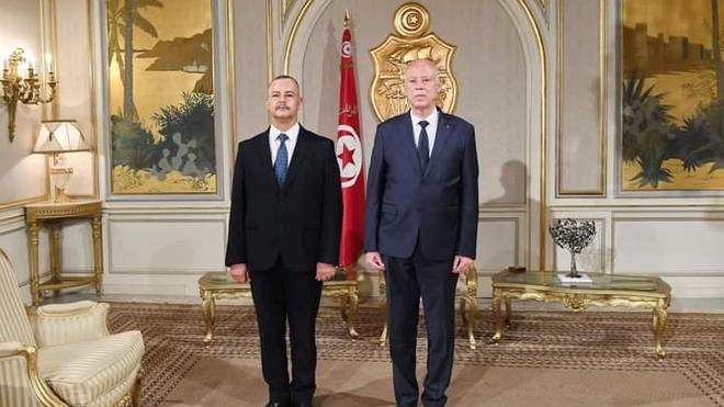 Ali Mrabet aux côtés du président Kaïs Saïed
