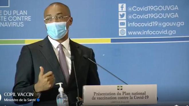 Le ministre gabonais de la Santé présente le Plan national de vaccination