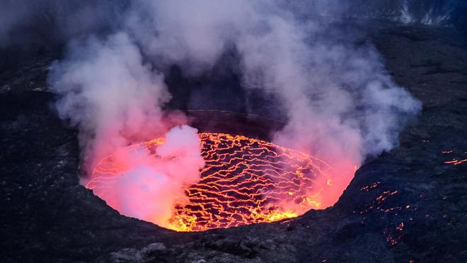 Le volcan Nyiragongo est entré en éruption samedi, provoquant la panique à Goma (Image d'illustration)