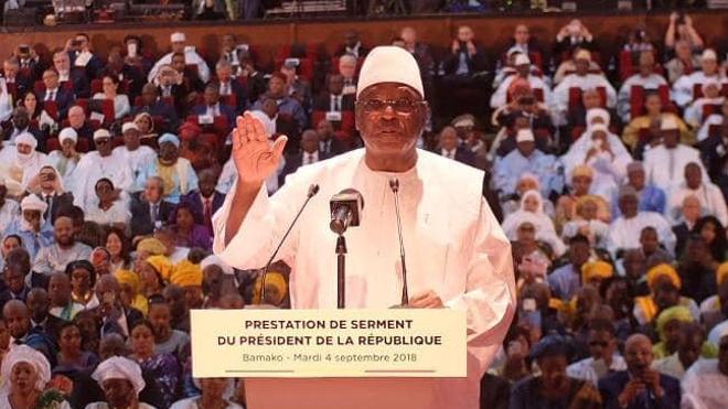 L'ancien président malien lors d'une allocution en 2018