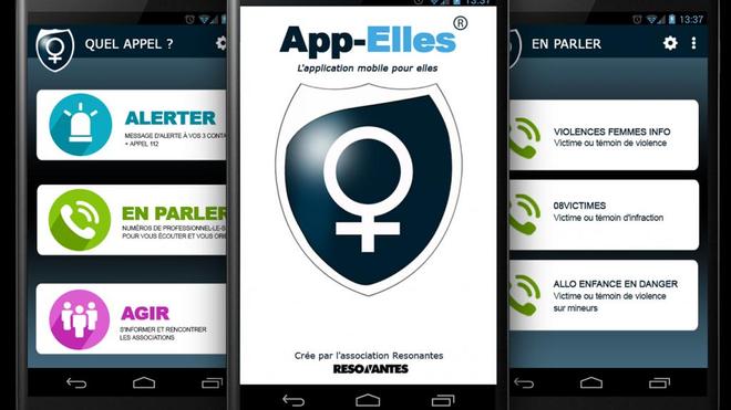 App-Elles, une application qui vient en aide aux femmes victimes de violences (illustration).