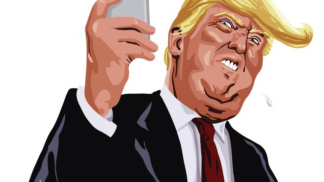 """Donal Trump est un spécialiste des """"Fake news"""" sur les réseaux sociaux (Illustration)"""
