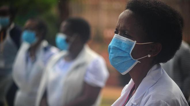 Des soignants en Afrique du Sud pendant la pandémie de Covid-19 ( Illustration)