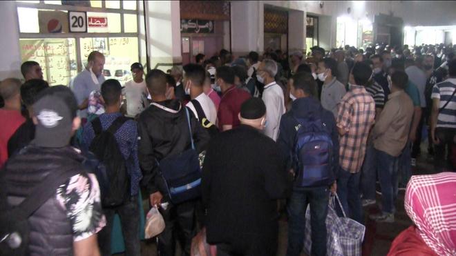 A Casablanca, la gare Ouled Ziane a été littéralement prise d'assaut