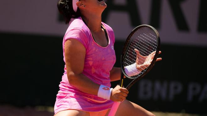Ons Jabeur lors du tournoi de Roland Garros, à Paris, en 2017